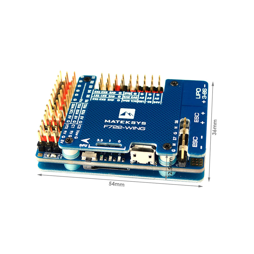 Matek System F722-WING STM32F722RET6フライトコントローラー内蔵OSD、RC飛行機固定翼用